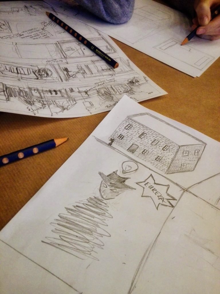 rysunek w ramach warsztatów z komiksu
